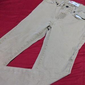 Boys Tan Skinny Jeans